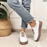 Кроссовки женские белые 5735, фото 6