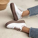 Кроссовки женские белые 5735, фото 8