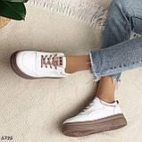Кроссовки женские белые 5735, фото 9