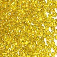 Бисер чешский Preciosa 80010, Круглый, Цвет:Прозрачный, жёлтый. 10/0 50 грамм/уп