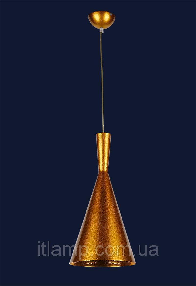 Стильная конусная золотая люстра 72042001-1 GOLD