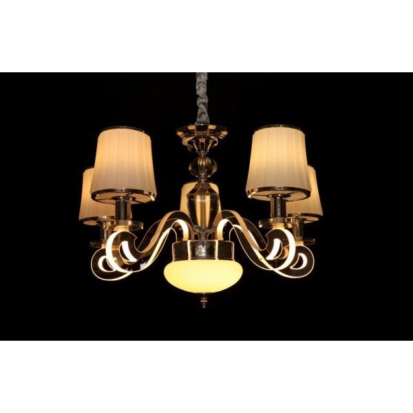 Современная классическая люстра с абажурами и светодиодной подсветкой LED Linisoln 8331/5 CF