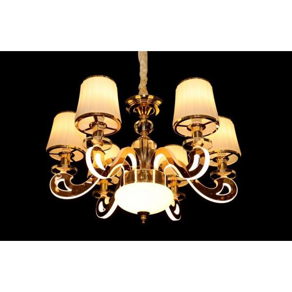 Современная классическая люстра с абажурами и светодиодной подсветкой LED Linisoln 8331/6 CF