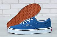 Кеды Vans Authentic Navy Canvas Skate Shoes (Кеды Ванс Аутентик синего цвета женские и мужские размеры 36-42)