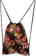 0170202,01 Рюкзак-сумка для обуви ПВХ рисунок DERBY цветы