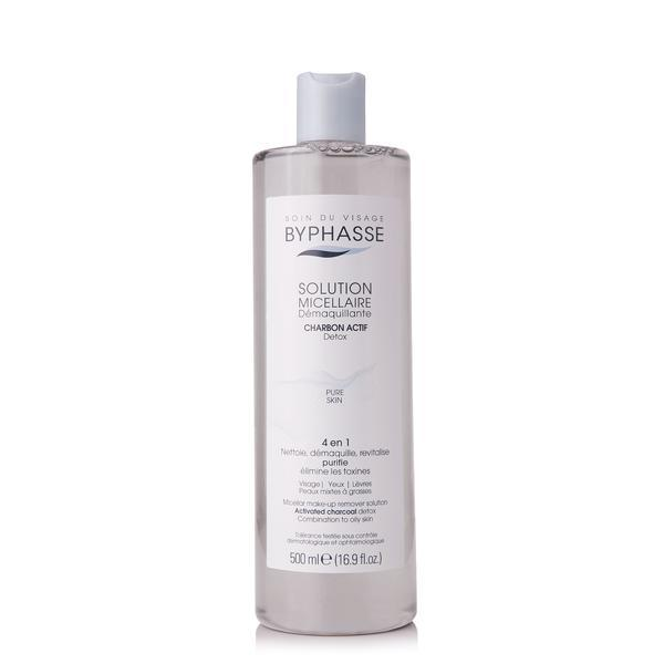 Byphasse Micellar Make-up Remover Activated Charcoal Мицеллярная вода с активированным бамбуковым углем вода