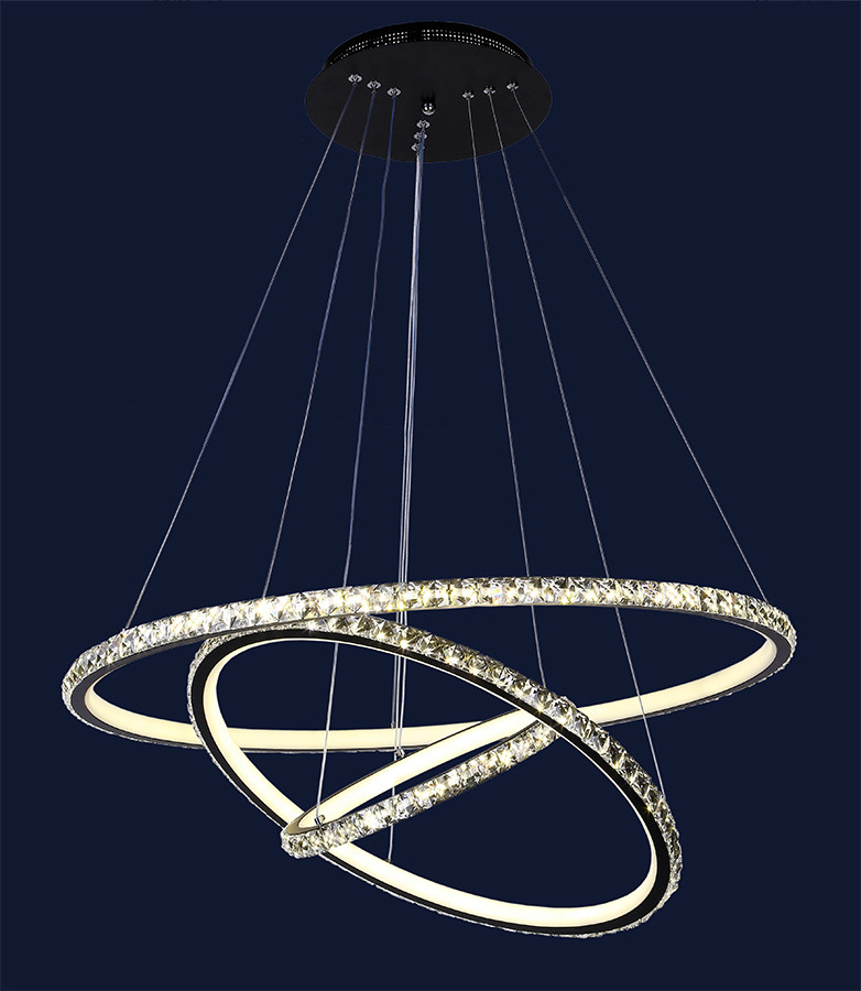 Люстры светодиодные круги Levistella 801L7070+3 BK