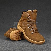 Ботинки Апачи зимние нубук койот набивной мех, фото 1