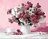 Картина рисование по номерам Brushme Натюрморт в розовых тонах GX8746 40х50см      BK-GX8746 набор для