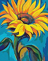 Картина рисование по номерам Brushme Подсолнух 40х50см рисование роспись по номерам, кисти, краски, холст