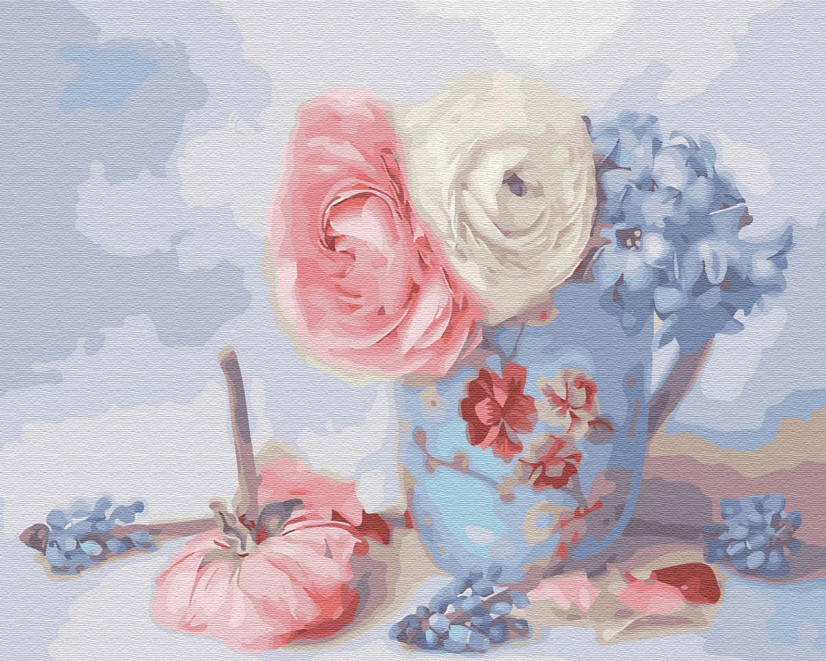 Картина рисование по номерам Brushme Нежные цветочки     BK-GX30785 набор для росписи, краски, кисти, холст