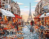 Картина рисование по номерам Париж 09U Danko Toys 40х50см в коробке расскраска по номерам города набор для, фото 1