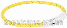 Нашийник Trixie 12692 світиться з USB L-XL 65 см 7 мм Жовтий