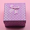 Коробочка розовая для кольца серег 741185 размер 9х9 см, фото 3