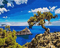 Картина рисование по номерам Brushme Водопад среди гор GX28758 40х50см набор для росписи, краски, кисти холст