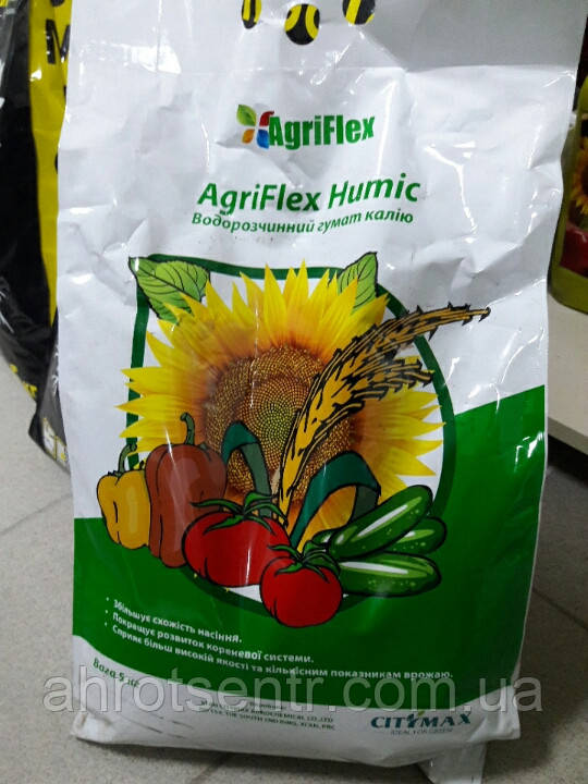 Агрифлекс Гумик  (Гумат калия + 15 % фульвокислоты) 5 кг CityMax Agrochemical