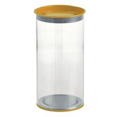 Тубус прозрачный пластиковый 100*230 мм