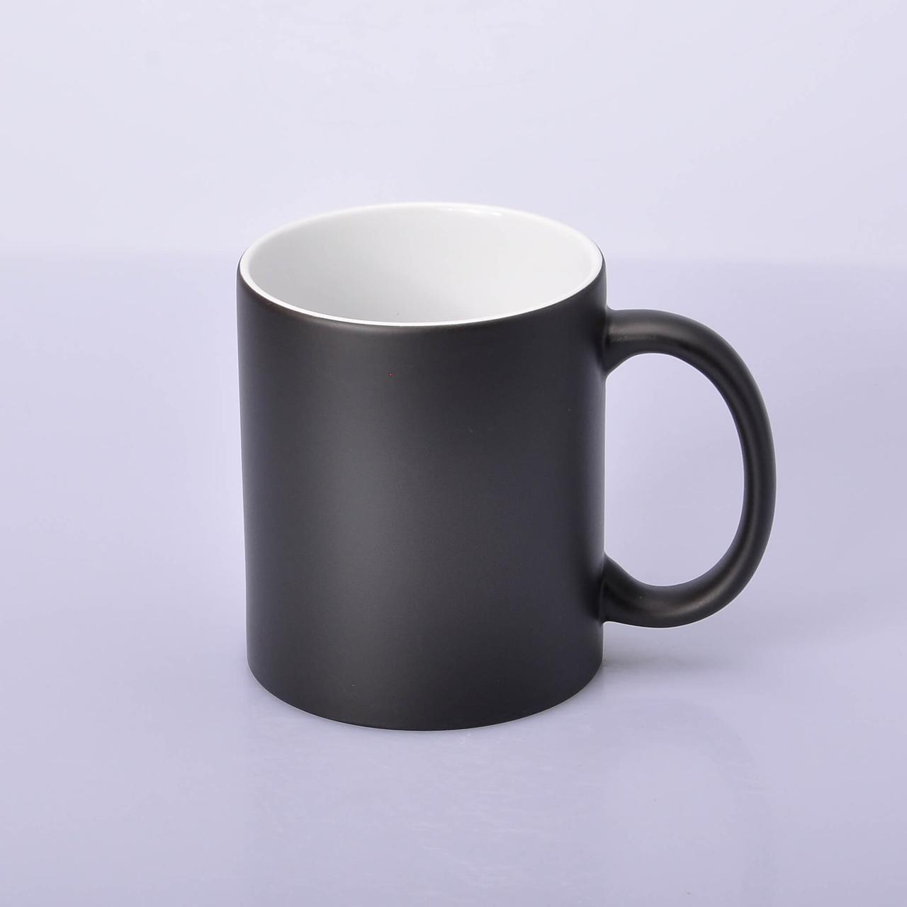 Чашка для сублимации хамелеон МАТОВЫЙ (черный)