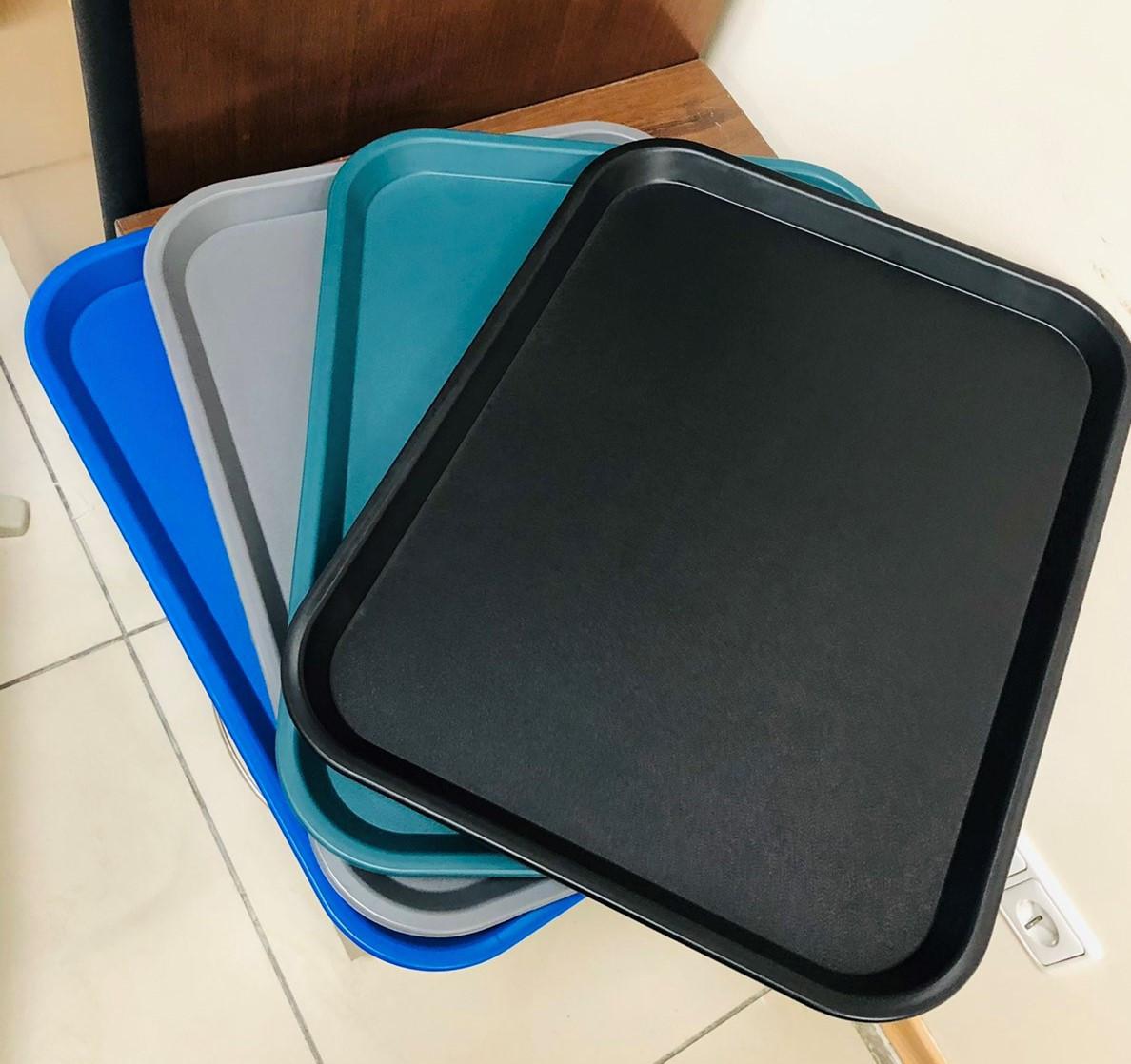 Поднос (таця) прямоугольный 45,6х35,6см синий, Италия