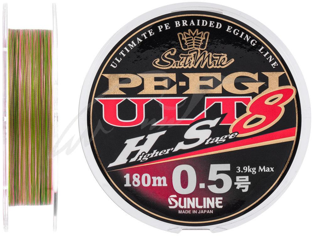 Шнур Sunline PE EGI ULT HS8 180m #0.5/0.117mm 3.9kg