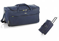 Дорожная - спортивная сумка на колесах: John Travel M - 7568 - синяя, 65 л