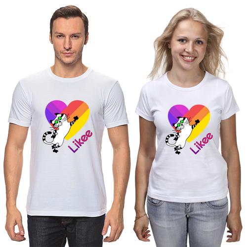 """Парные футболки с принтом """"Коты Likee"""" Push IT"""