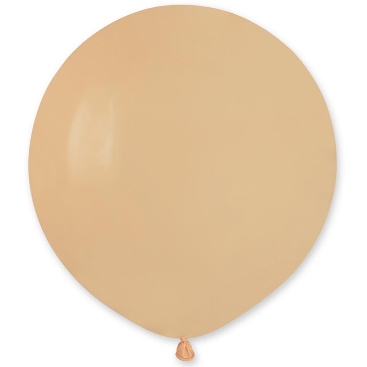 """Латексные шары круглые без рисунка И 19""""/69 пастель телесный"""