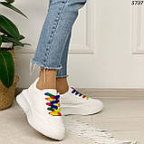 Кроссовки женские белые 5737, фото 2