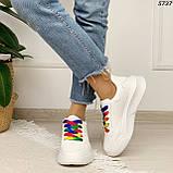 Кроссовки женские белые 5737, фото 4