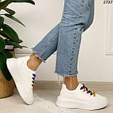 Кроссовки женские белые 5737, фото 6