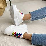 Кроссовки женские белые 5737, фото 7