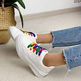 Кроссовки женские белые 5737, фото 8
