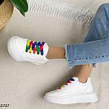 Кроссовки женские белые 5737, фото 9