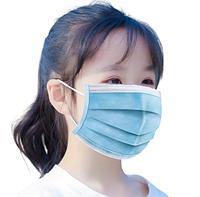 Детская медицинская маска одноразовая голубая (3 слоя, прослойка мельтблаун)