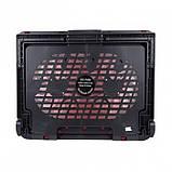 Охлаждающая подставка для ноутбуков Notebook Cooling Pad N99 Чёрный с красным, фото 2