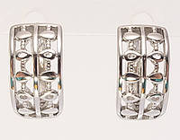 """Сережки M&L англійський замок """"Ромби"""", фото 1"""
