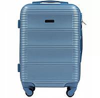 Женский дорожный чемодан wings 203 голубой размер M (средний), фото 1