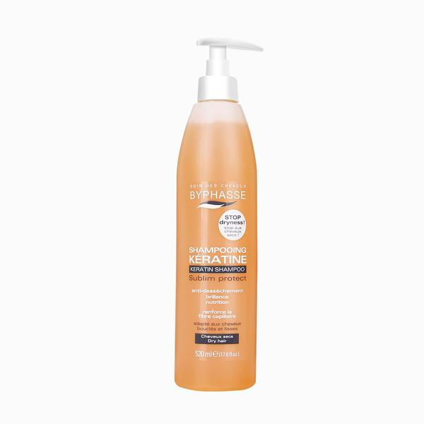 Byphasse Keratine Shampoo Шампунь для сухих волос шампунь 520 мл