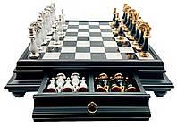 Шахматы элитные Italfama (доска мрамор с деревом)