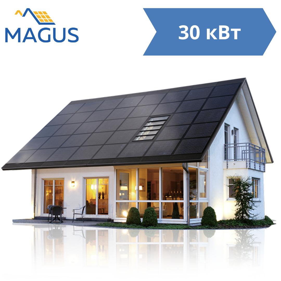 Сетевая солнечная станция 30 кВт Premium