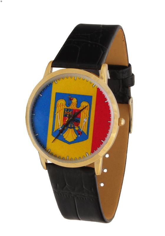 Часы с Вашим фото Румынский флаг