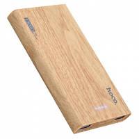 УМБ портативний зарядний 13000 маг Hoco Wooden oak Wood B36, світло-коричневий