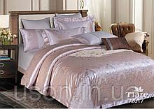 Комплект  постельного белья сатин жаккард Тиара семейный размер 2017