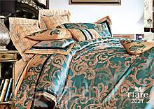 Комплект  постельного белья сатин жаккард Тиара семейный размер 2021