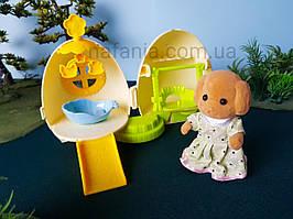 Флоксовая собачка + будиночок яйце, трансформер, (аналог Sylvanian Families)