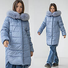 Дитяче зимове пальто на дівчинку Софія, р-ри 30-40