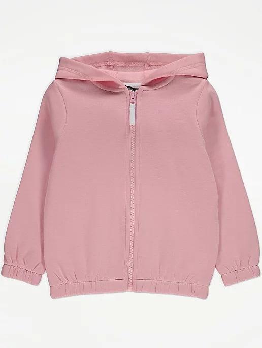 Розовая толстовка на молнии для девочки George Англия Размер 134-140