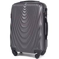 Пластиковый чемодан wings 304 серый размер M (средний), фото 1