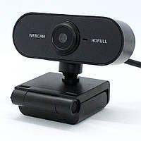 Веб-камера с микрофоном для компьютера DL32 Full HD USB Webcam проводная с креплением