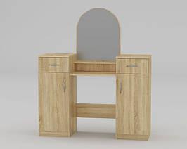 Будуарный туалетный столик трюмо стол в спальню Компанит 2 ШхГхВ - 856х390х1390 мм